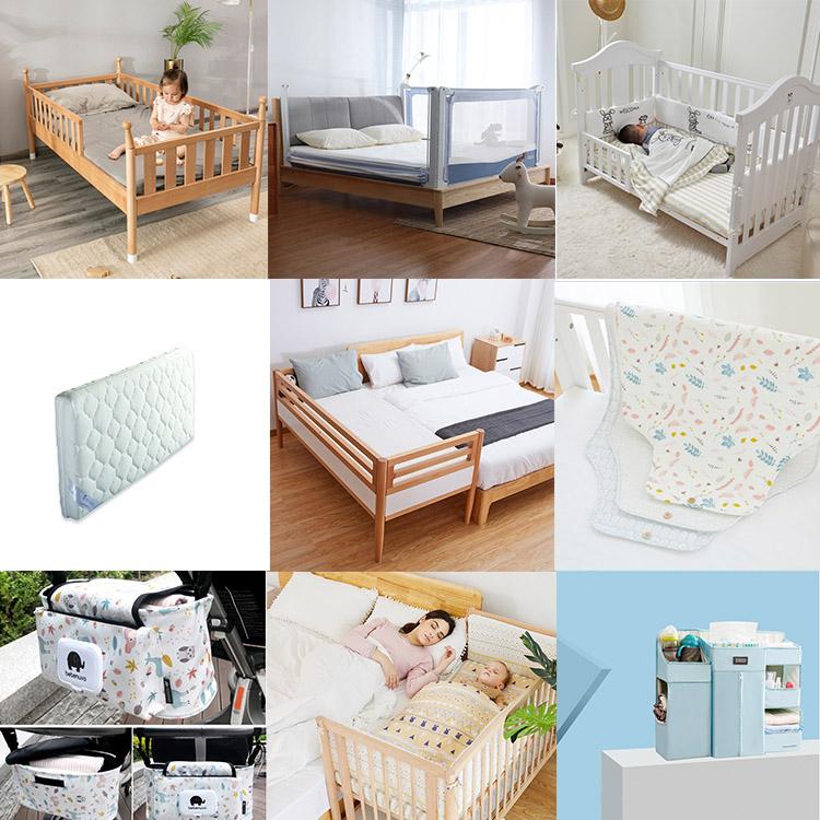 Alta calidad Alemania importado haya moderna cuna de madera diseño de cuna de bebé