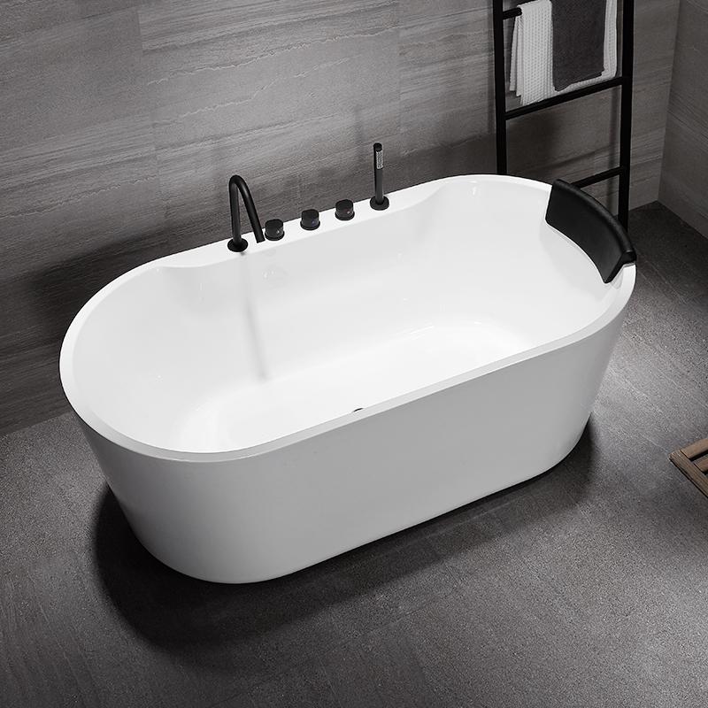 Baignoire de salle de bain moderne meilleur acrylique trempage solide surface autoportante baignoire pour adultes