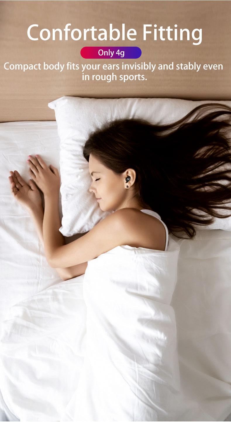 X18-TWS मिनी Earbuds बीटी V5.0 में-कान वायरलेस Headphones Hifi ईरफ़ोन हाथ नि: शुल्क ईरफ़ोन मामले