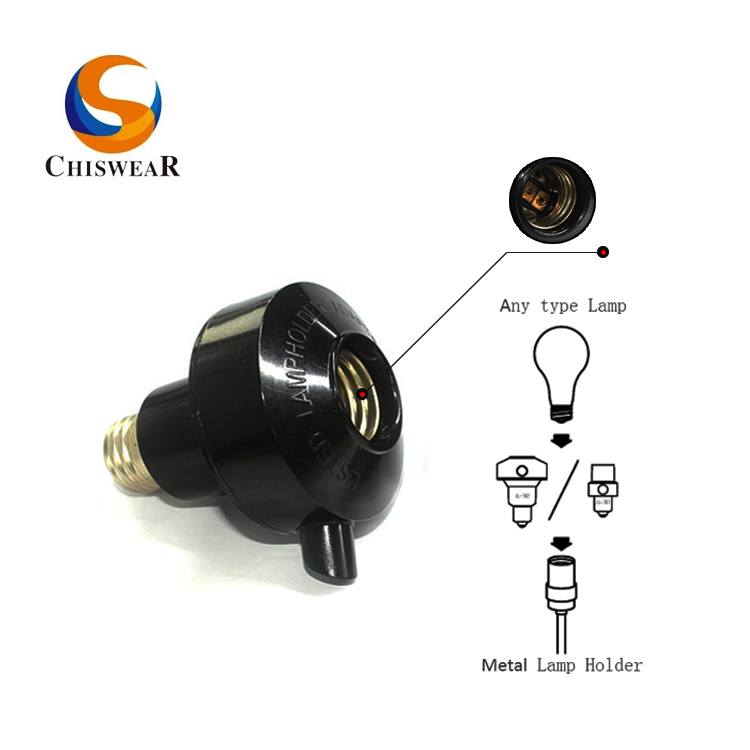 Dusk to Dawn Photocell Lamp Socket for Porch Lighting Control