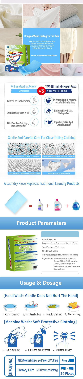 Wäsche seife blätter Waschmittel 3 in 1 organische Wäsche Blätter Hohe Effizienz