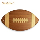 American Bamboo Cutting Board Bamboo Custom Durable American Football Shaped Bamboo Cutting Board Chopping Board