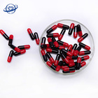 normal size 0 red black empty gelatin vegetable herbal capsule