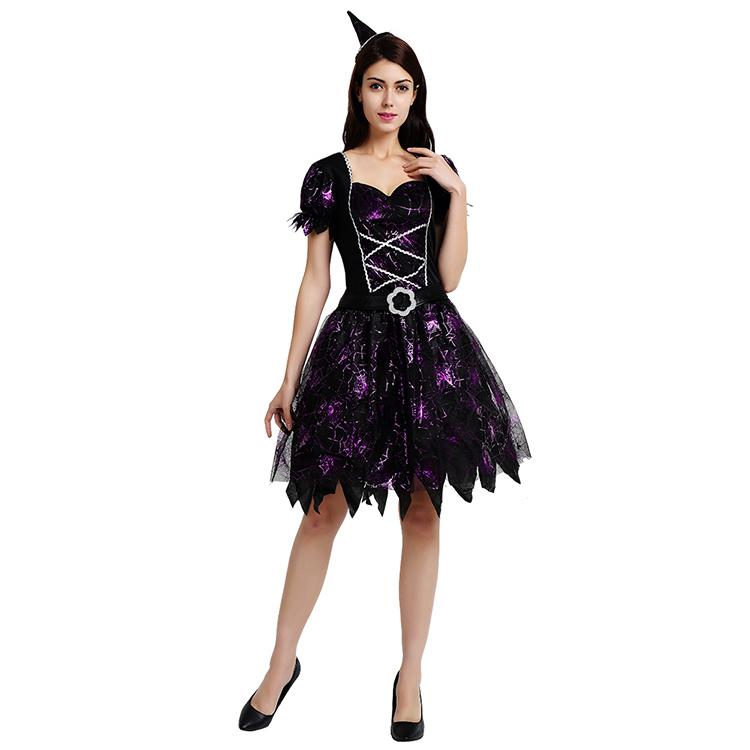 Promotie Hoge Kwaliteit Designer Fancy Dress Heks Kostuum, Goede Heks Plus Size Kostuum