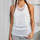 Top 2020 Thin Breathable U-neck Vest Women's Plus Size Loose Summer Stretch Top Women Vest