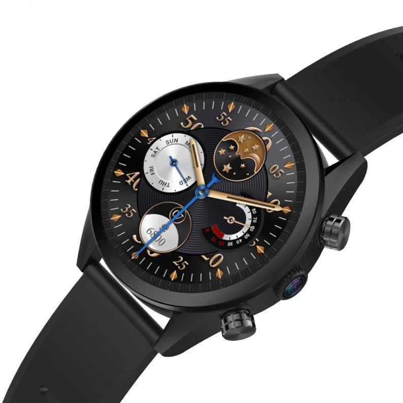 2019 Trendy GPS 4G Sport Mens  Kingwear Amoled Round Screen MTK6739 Android  Smartwatch Phone Custom With Ram
