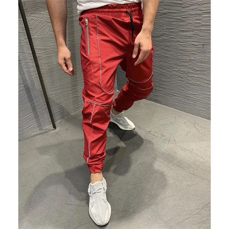 Wholesale custom Autumn and winter new sports pants night running reflective trousers fitness basketball jogging jogger pants