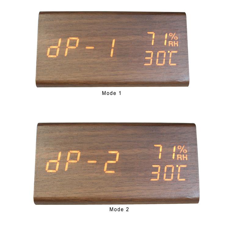 Digital Alarm Clock 3d Led Digital Clock Wooden Electronic LED Time Display 3 Alarm Settings Humidity&Temperature with Led Clock