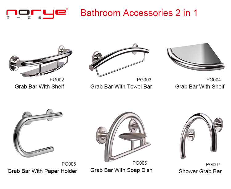 Norye hot selling glass bathroom shelf factory direct supply for hotel