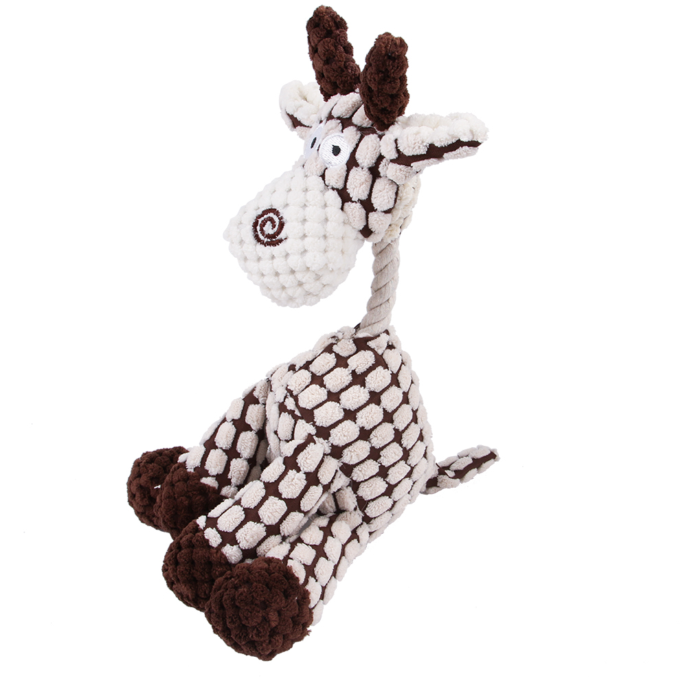 Durable Cute Animal shape Pet Products donkey Plush Stuffed Chewy interactive Squeaky dog toy