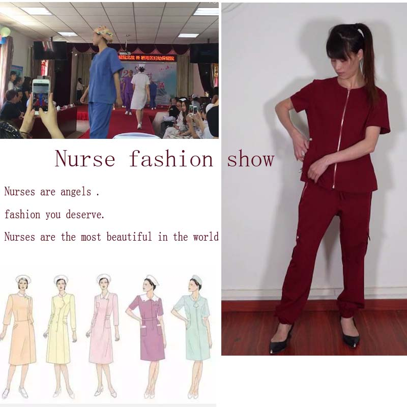 Women's Elastic Waistband Tapered Jogger Scrub top with pant Workwear  Utility Scrub Pants  Nursing
