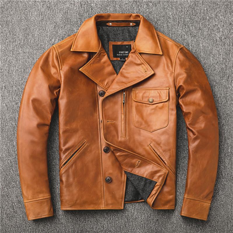 Venta al por mayor cera chaqueta piel Compre online los