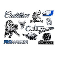 custom 3D chrome emblem chrome emblem car badge car sticker metal