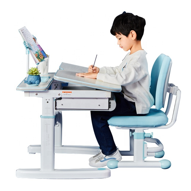 IGROW Anak Membaca Tabel Ditulis Desktop 3-18 Tahun Adjustable Ergonomis Anak-anak Meja dan Kursi
