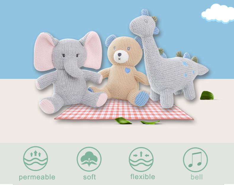 Factory Custom Cute Handmade Stuffed ToyKnit Crochet Plush Mice ToysBaby Soft Stuffed Animal Doll for 25 Years