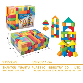 foam building blocks for kids toys 137 pieces EVA foam bricks set