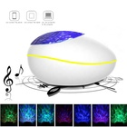 New Design Lucky Stone Shape USB LED Starry Night Light Ocean Wave Projector with Bluetooth Remote Control