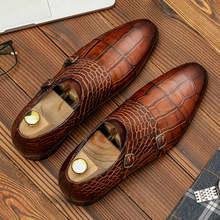Мужская обувь из натуральной кожи; Деловые модельные туфли; Мужская Брендовая обувь из натуральной кожи Bullock; Черные свадебные мужские туфл...(Китай)
