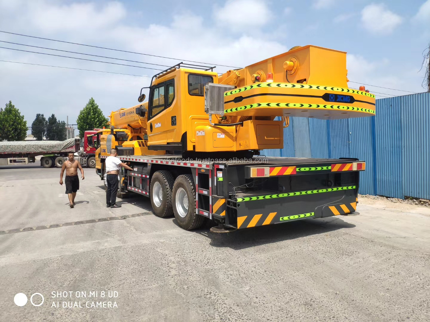 2018 XCM'G QY50KA Battery China made 50ton mobile crane with standard boom