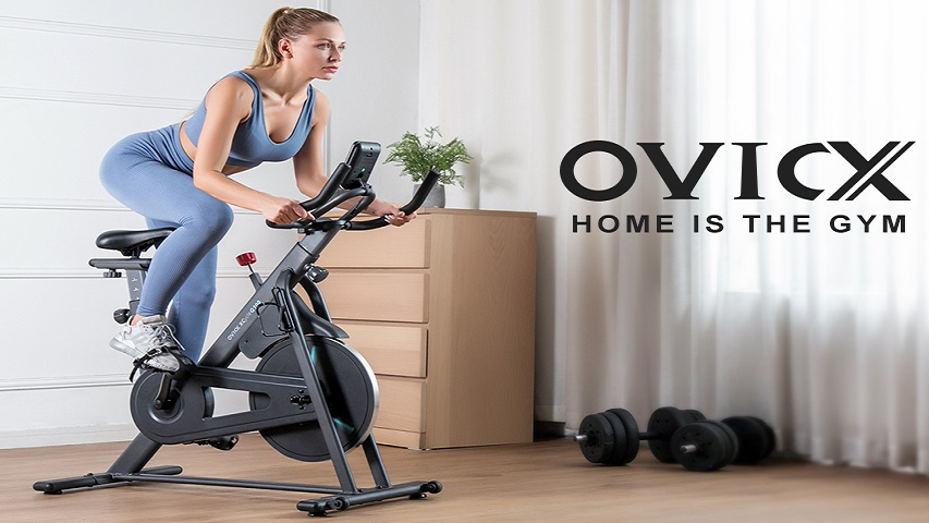 OVICX foldable smart computer commercial spinning bike Q100 pro indoor fitness life body strong
