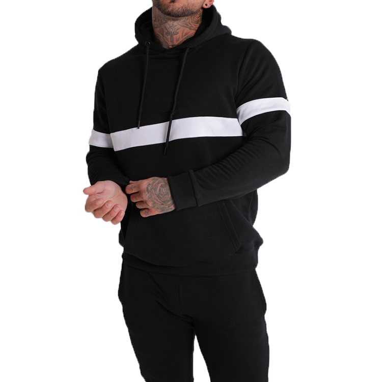 Full Mens Casual Tracksuits Gym wear street wear pullover hoodie and long pant tracksuits set