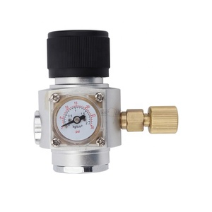 "Homebrew Mini Soda CO2 Regulator 30 PSI Gas Pressure Regulator MiniCO2 Regulator with 3/8"" Thread"