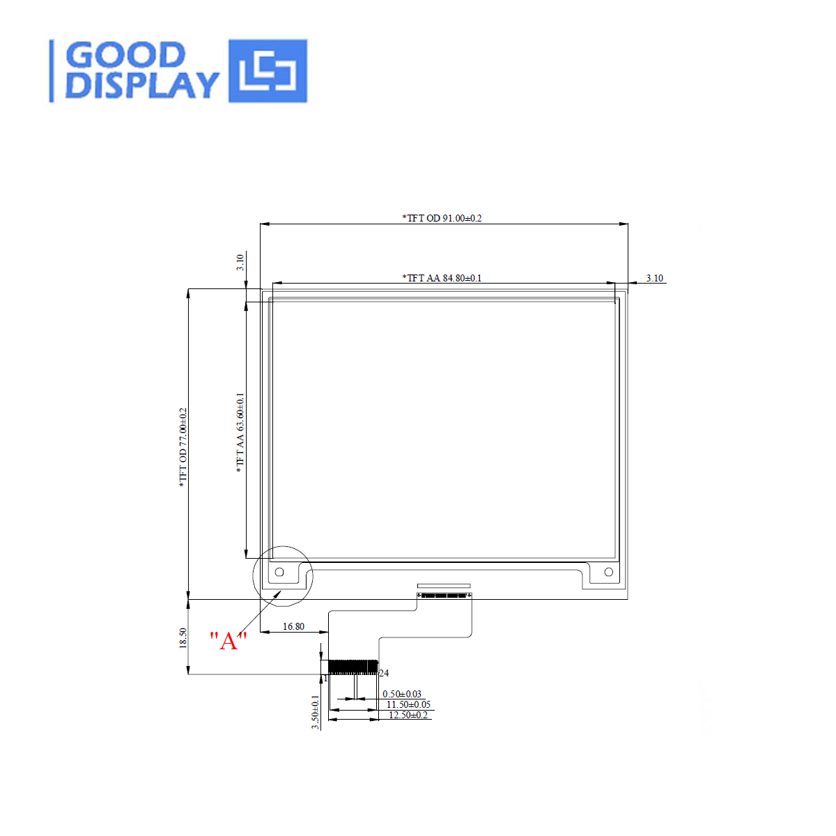 Display 400x300 E-ink a colori ultrasottili da 4,2 pollici