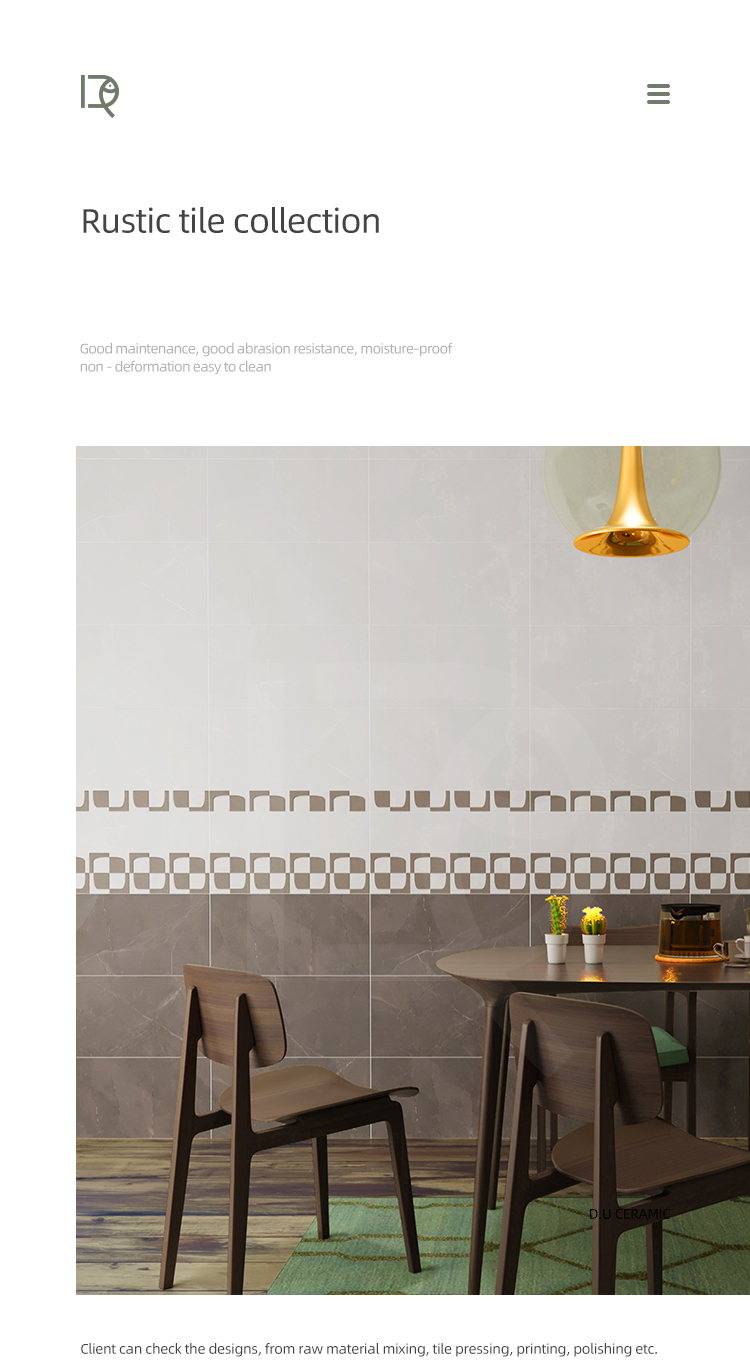 decorative rustic wall tiles and matt finish glazed wall tiles 600x300 factory price non slip floor and wall ceramic tiles