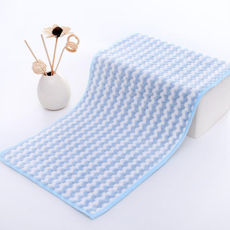 Factory Cheapest Top Quality 300GSM Striped Absorbent Coral Fleece Microfiber Cleaning Towel