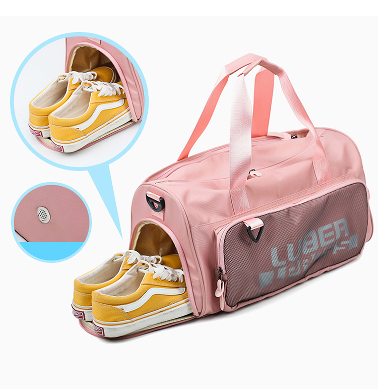 Hand Carry Strong Waterproof Travelling Fitness Duffle Gym Bag with Shoe Compartment