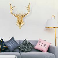 Nordic style lucky deer head wall decoration for living room decoration