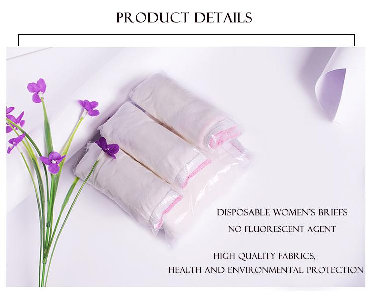 Kunststoff transparent einweg frauen baumwolle unterwäsche hergestellt in China