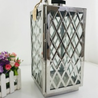 Classical House Decoration European Outdoor Lantern Stainless Steel Glass Candle Lantern