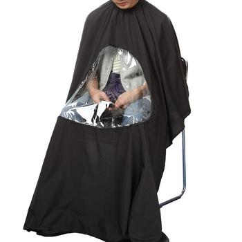 Hairdressing Salon hair cut waterproof barber cape with window