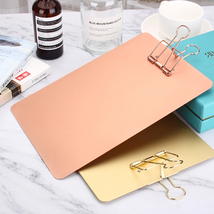 New high quality metal aluminum writing Clipboard, hanging menu display board, student file board clip, Clipboard A5, A6
