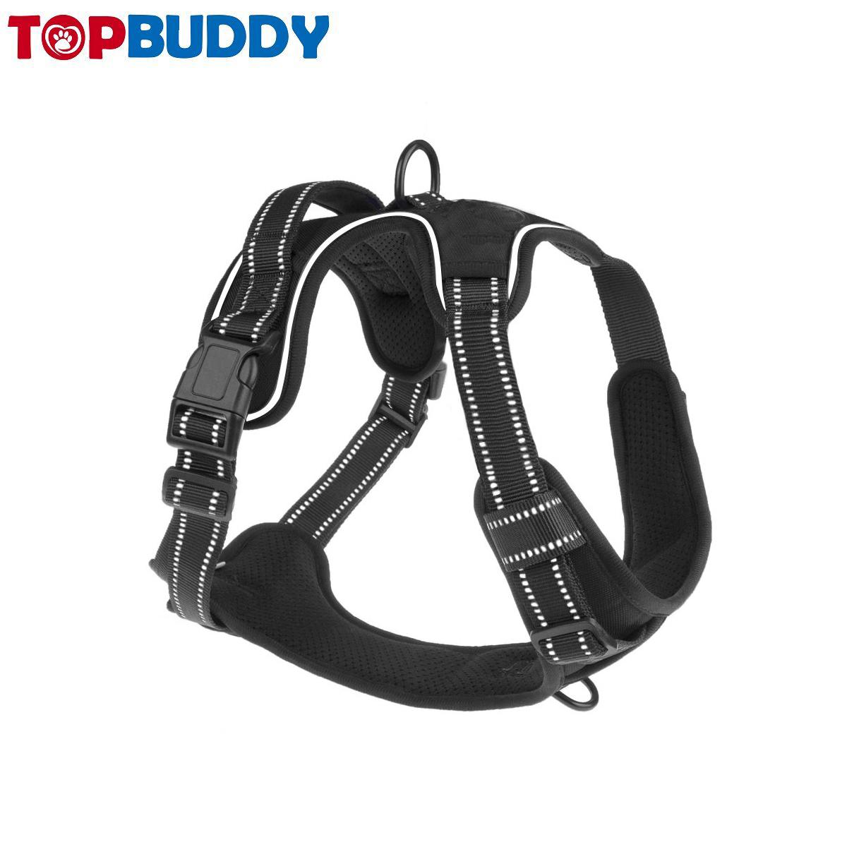 Factory Direct No Pull Custom Harness Dog Easy Walk Nylon Dog Pet Harness For Walking Reflective