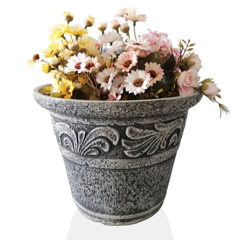 ขายส่งที่มีสีสันรูปสี่เหลี่ยมผืนผ้าระเบียงอ่างล้างหน้าพลาสติกกระถางดอกไม้