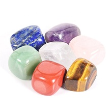 Bulk Wholesale Polished Energy 7 Color Crystal Gravel Rough Chakra Stone