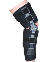 Hinged ROM Knee Brace Orthosis Splint Wrap Adjustable Medical Orthopedic Post-Op