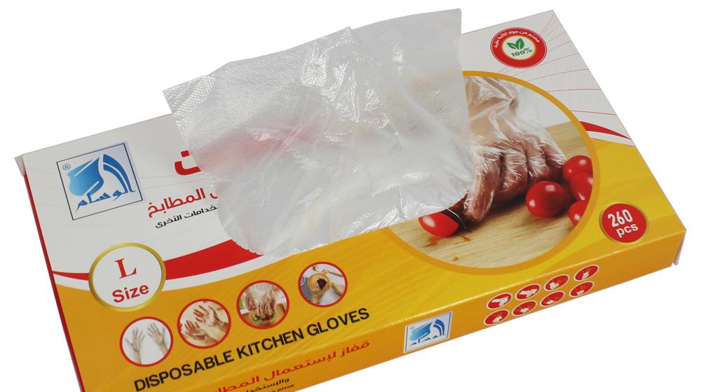 Tek kullanımlık şeffaf Hdpe gıda polietilen eldiven