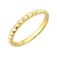 hot sale fashion gold plated solid 925 silver spike rings jewelry women