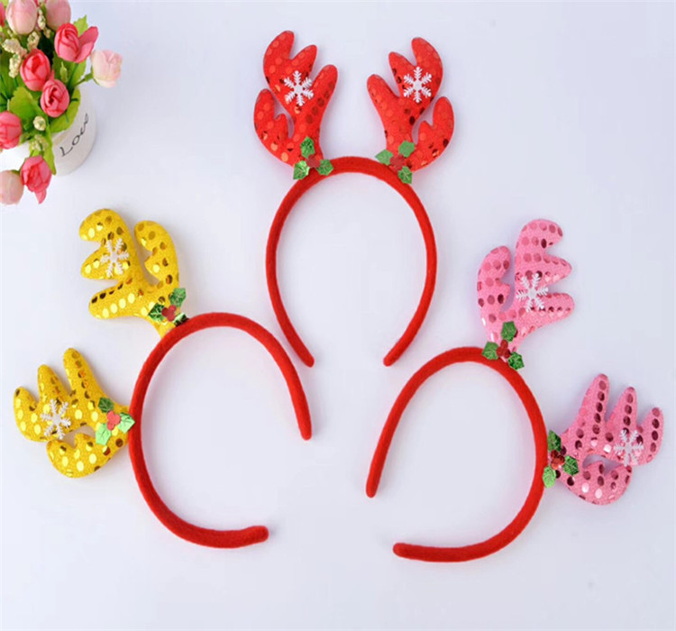 Fashion Design Christmas Decoration Accessories Adult Kids Headdress Gift Kids Hair Hoop