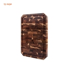Home Eco-friendly High Quality Custom End Grain Food Meat Fruits Acacia Wooden Chopping Boards with Juice Groove Cutting Board