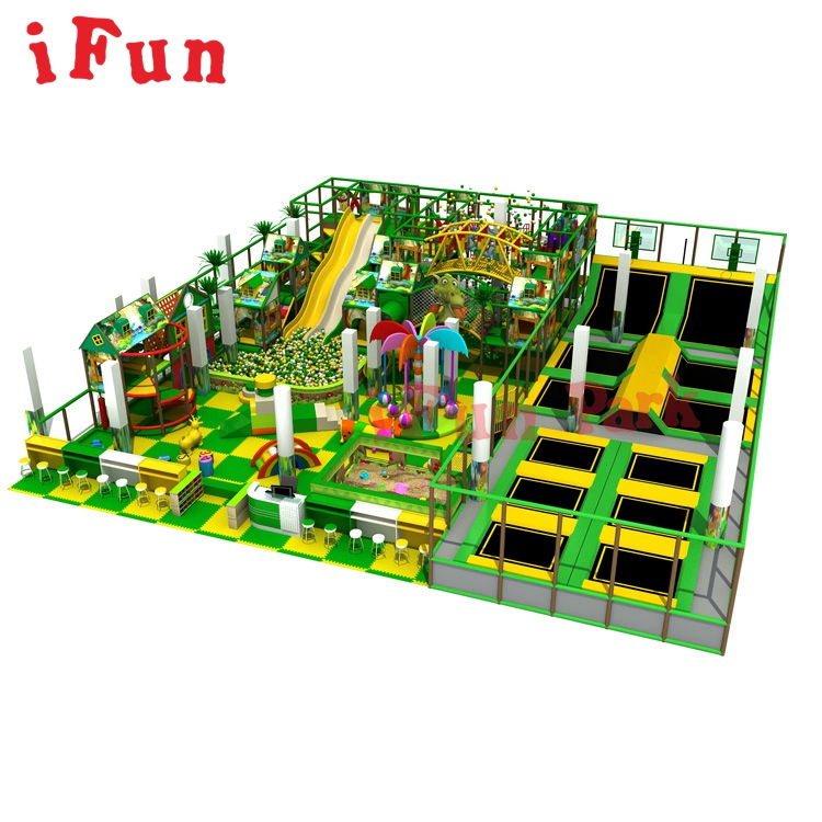 IFUN 400 Square Meter Soft Playground Forest Style