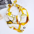2019 New Design Stylish Fancy Trendy Silk Square Scarf For Women