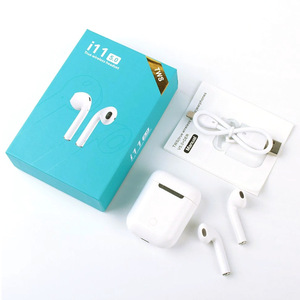 2020 Classic Bluetooth Earphones i11 TWS Portable Earpods Premium Chip Touch Control Waterproof Headphones For iPhone Xiaomi