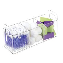Clear Perspex Medische Benodigdheden <span class=keywords><strong>Opslag</strong></span> Container Rechthoek 3 Secties Acryl Organizer