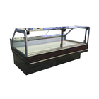 New Design Supermarket Commercial Self Service Counter Deli Fresh Food Cooler Display Showcase