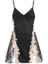 Летняя женская одежда для сна, Женская кружевная открытая шелковая ночная рубашка на бретельках, Соблазнительная Сексуальная ночная рубаш...(Китай)