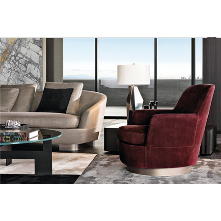 Foshan shunde produttore angolo singolo divano poltrona oro mobili divano set